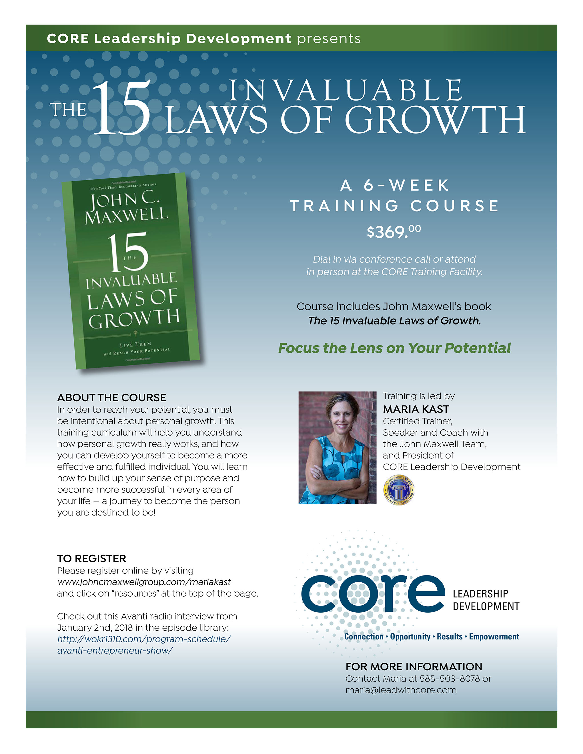 15 Laws of Growth CORE Leadership Development