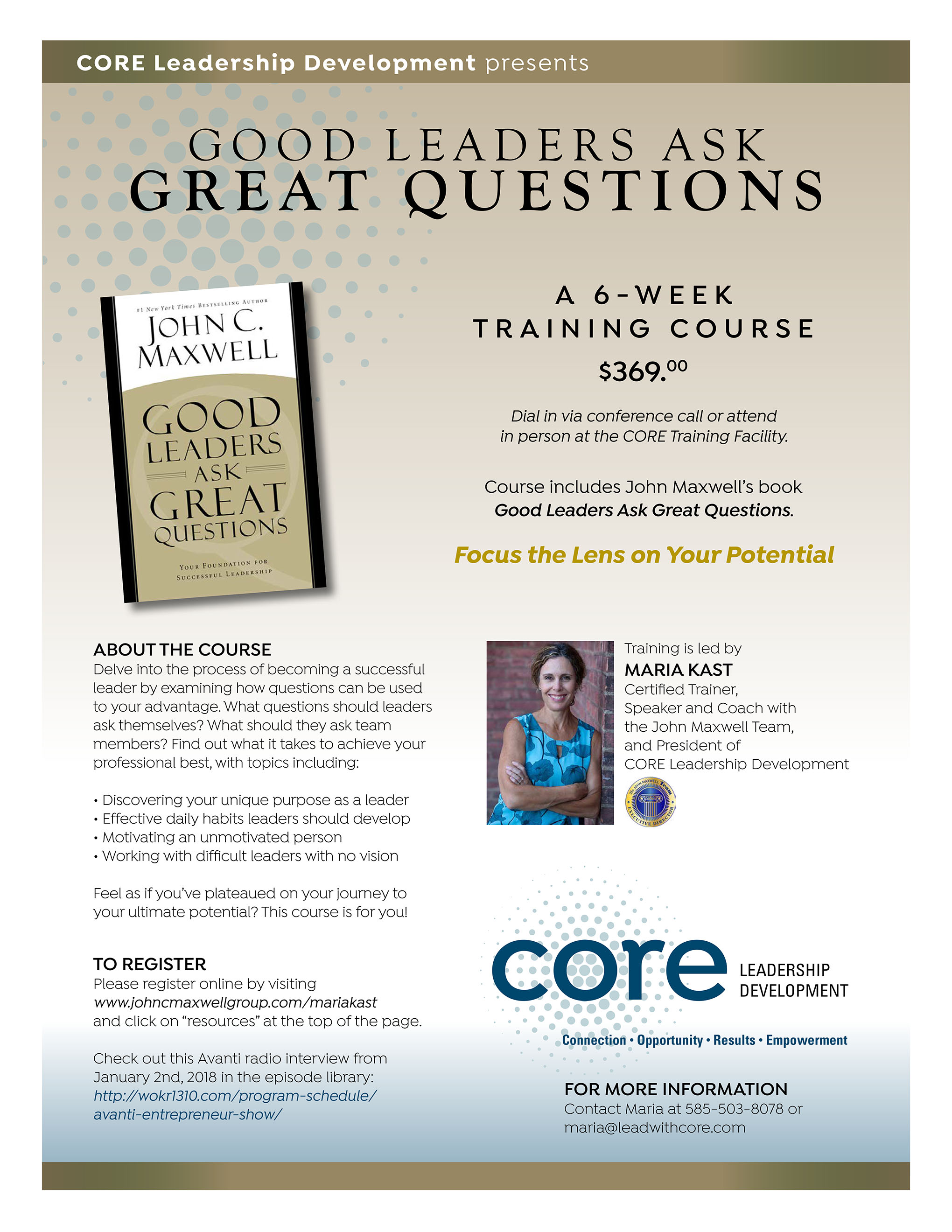 Good Leaders Ask Great Questions CORE Leadership Development