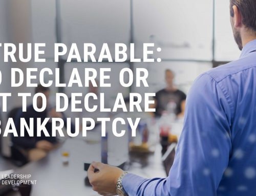 A True Parable: To Declare or Not to Declare Bankruptcy